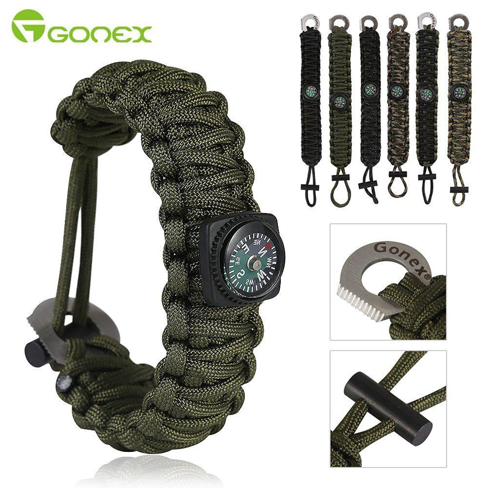 Gonex 550 Paracord Survival Bracelet Outdoor Camping Survival Gear