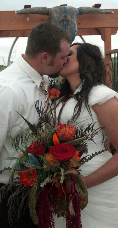Kisses Awesome Wild Bouquet For A Native American Wedding