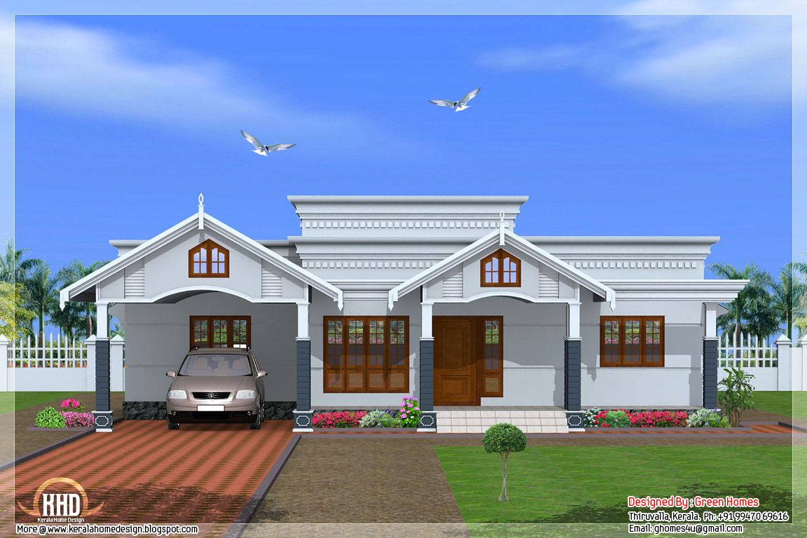 4 Bedroom Single Floor Kerala House Kerala House Design Duplex House Design Small House Architecture