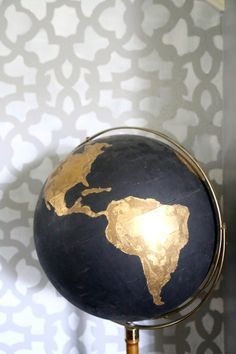 Diy black  gold globe project for decor the lobby at venue also pinterest and lobbies