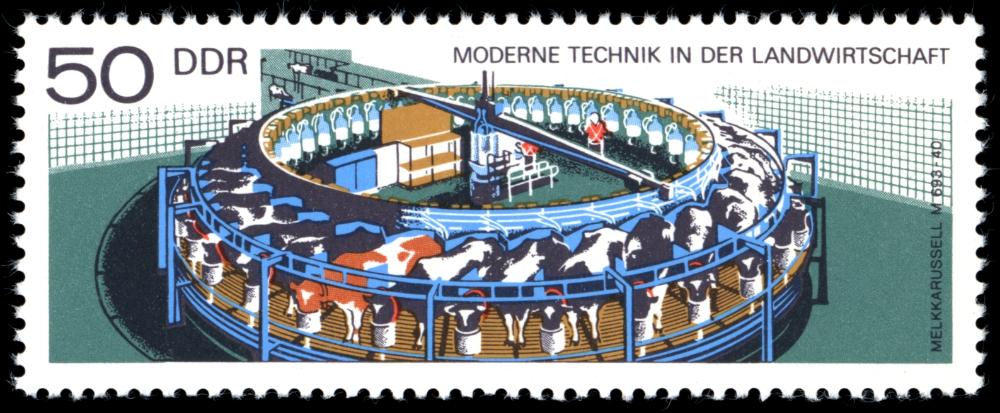 Briefmarken 1977 der Deutschen Post der DDR Moderne