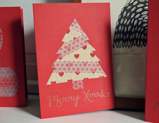 20 Beautiful Diy Homemade Christmas Card Ideas For 2012 Diy Christmas Cards Homemade Christmas Cards Christmas Cards Handmade