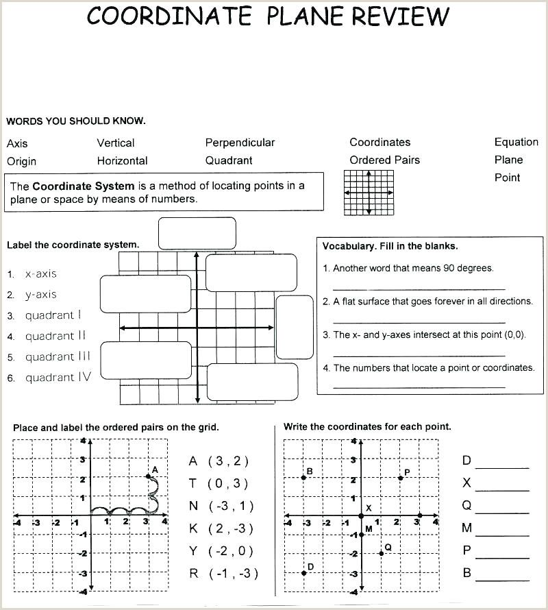 Coordinate Plane Quadrant 1 Worksheet in 2020 Coordinate