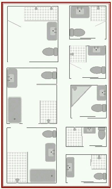 Small Bathroom Layouts Small Bathroom Plans Small Bathroom Floor Plans Bathroom Floor Plans