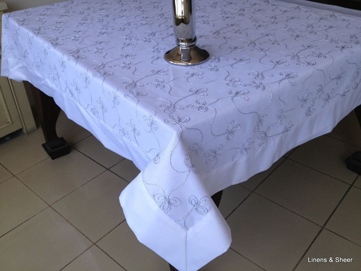 Table Linen Embroidery Step Stitch Cordonnet H24317 Table