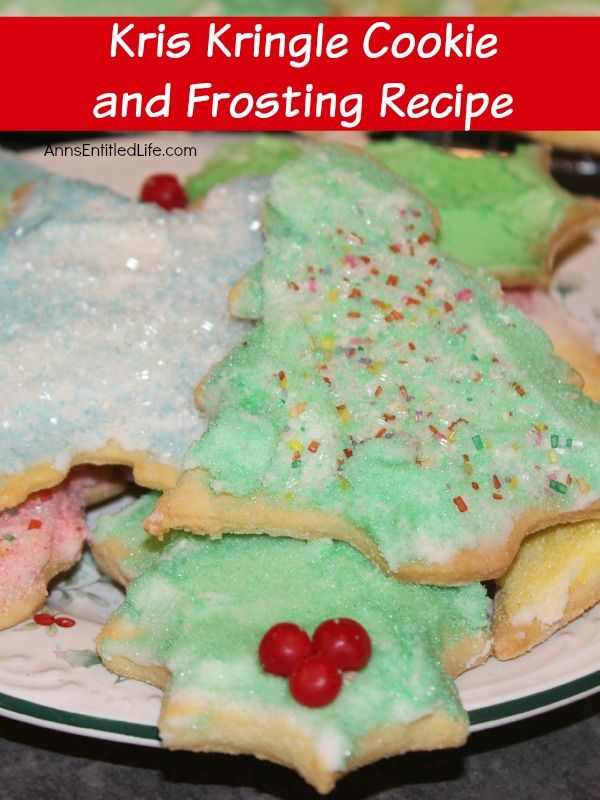 Kris Kringle Cookie And Frosting Recipe Traditional Christmas Cut