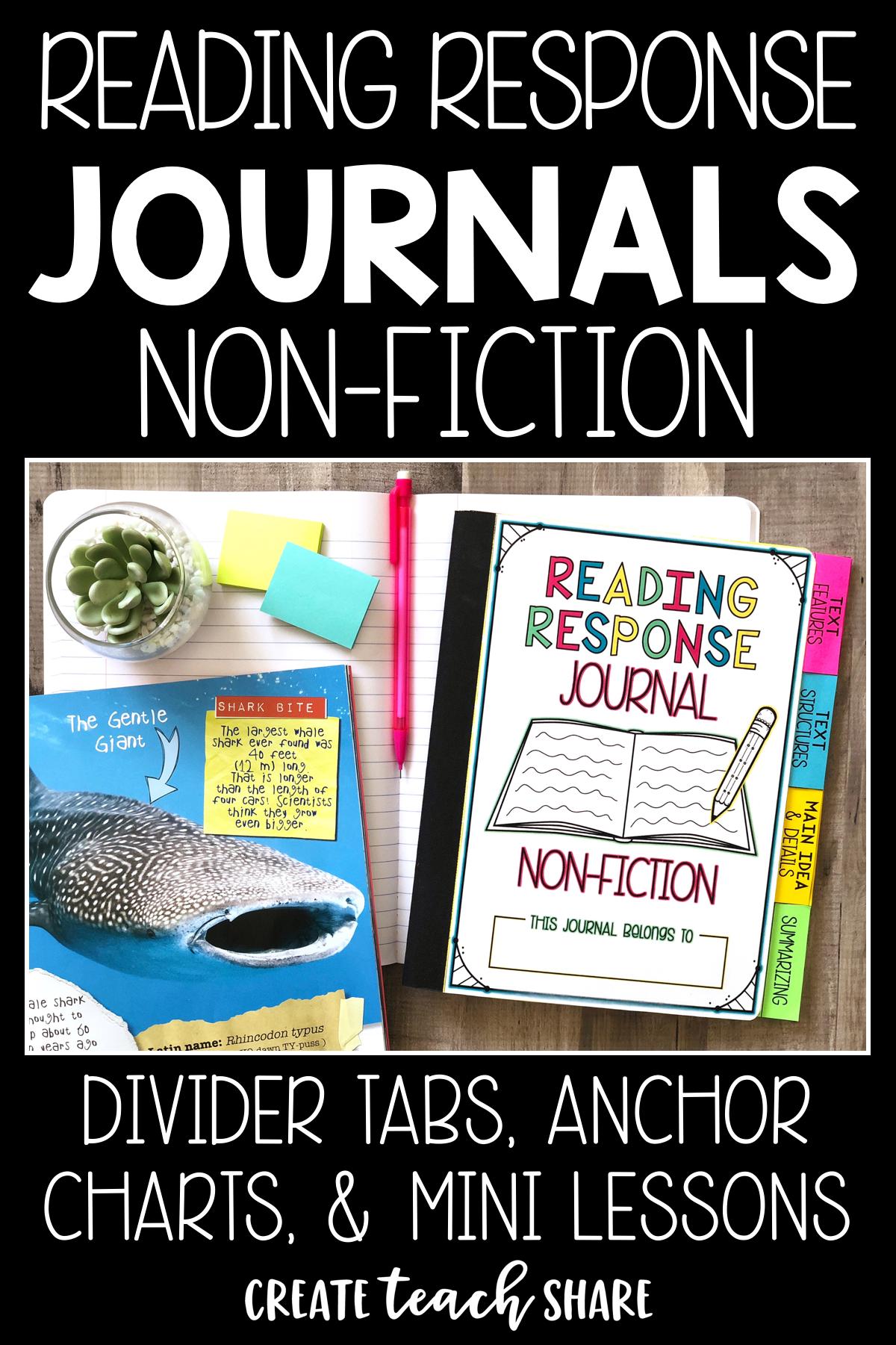 Reading Response Journals Non Fiction