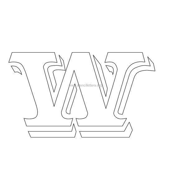 Victorian Stencil Letter W