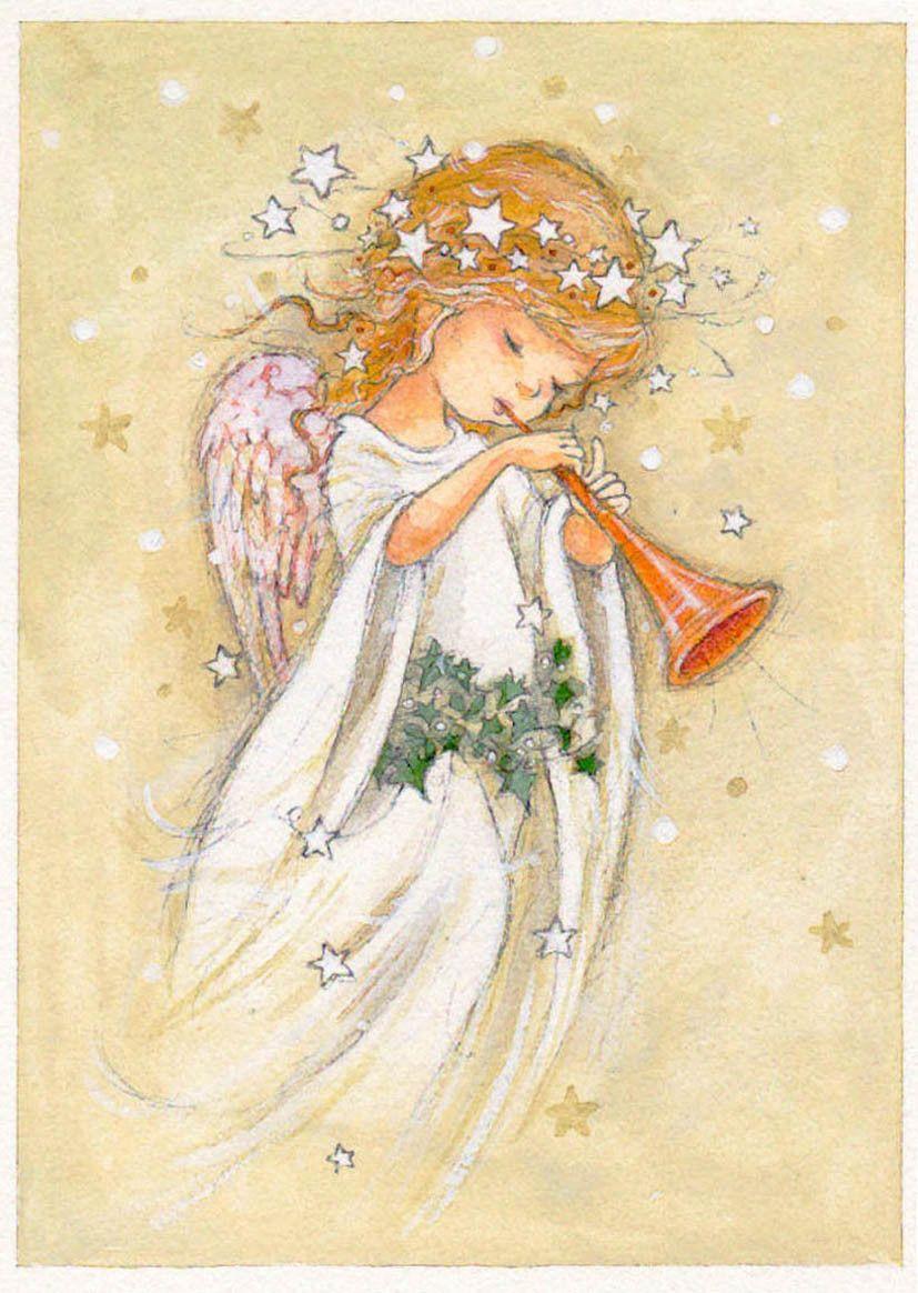 Воздушные шарики, рождественские открытки ангелами