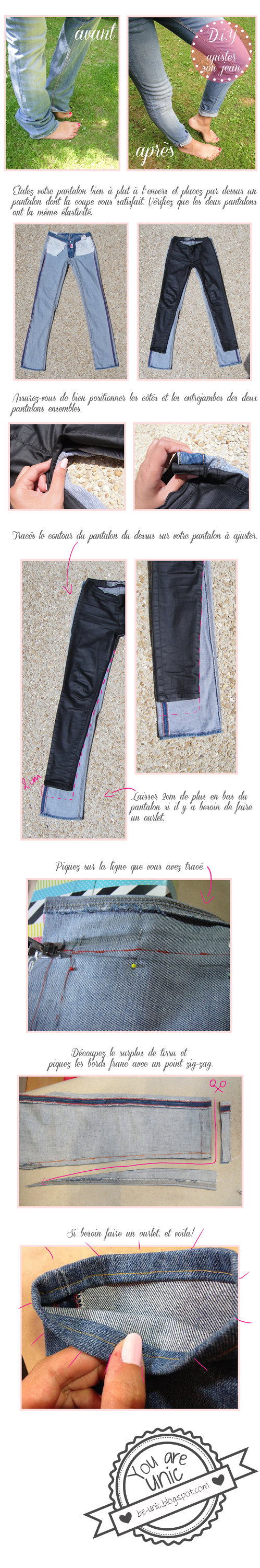 Be Unic: D.I.Y # 13 - Ajuster Son Jean | Sewing | Pinterest ...