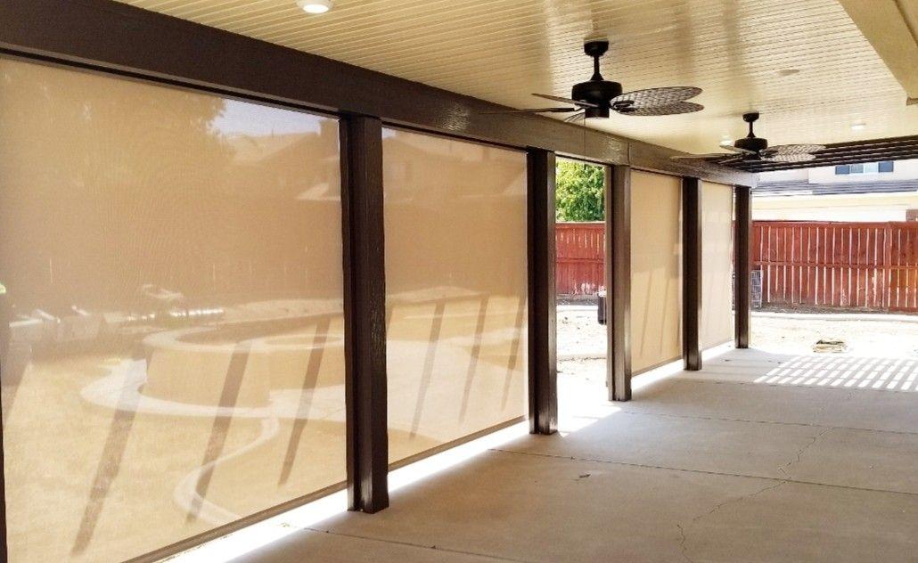 Motorized Shade Screens Shade Screen Patio Shade Backyard Renovations