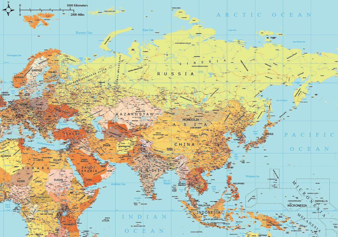 Asia Map Full Hd Image Asia Map Full Hd In