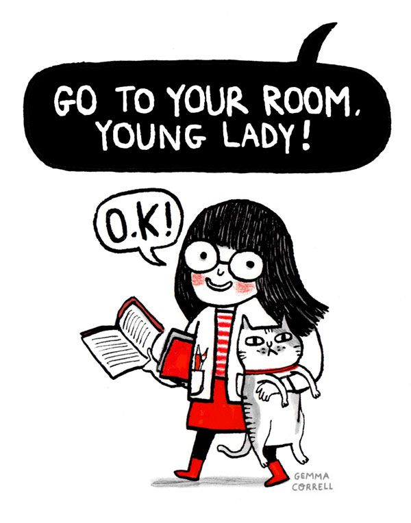 It was never a punishment for me (Portrait of an Artist as a Young Lady - Gemma Correll)