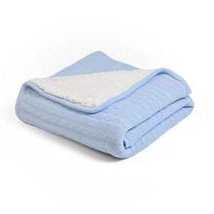 Eu Lager Dicke Wohndecke Strickdecke Modern Aus Baumwolle Azurblau 120 180cm Tagesdecke Wohndecke Decke