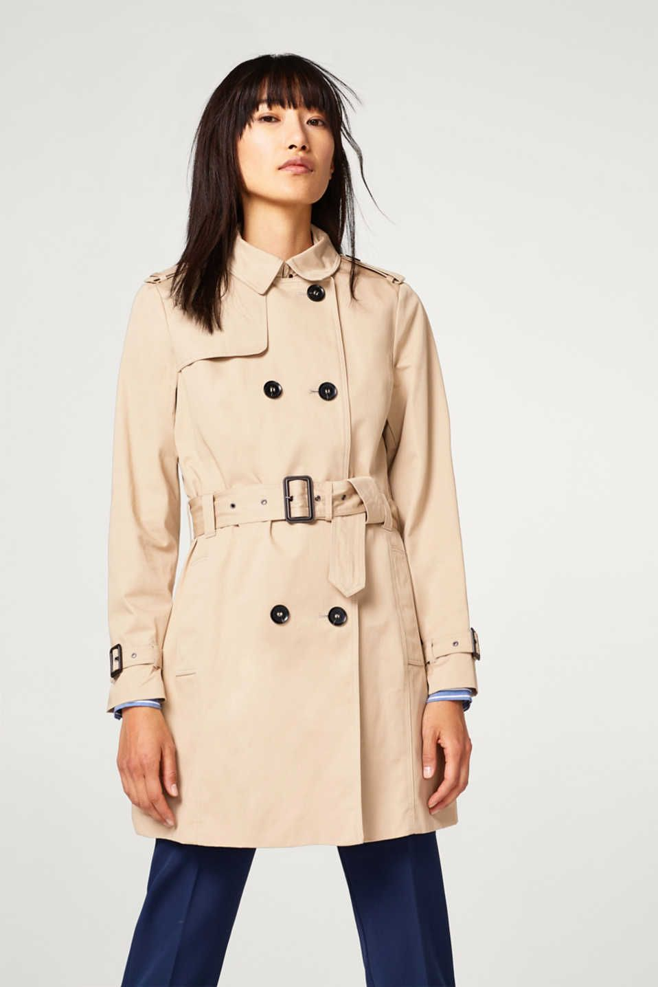 Esprit Classic Trench Coat In Cotton Classic Trench Coat Fashion Trench Coat [ 1436 x 958 Pixel ]