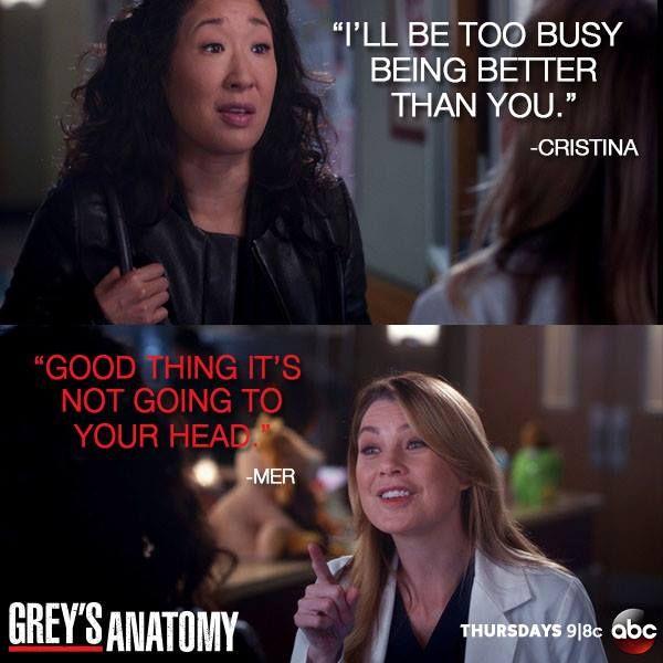 Cristina and Mer bestie sass. | Grey\'s Anatomy | Pinterest