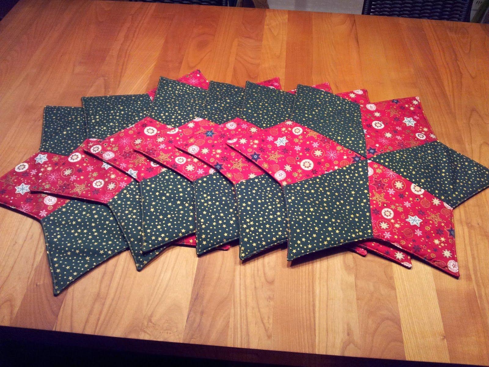 tischset stern patchwork anleitung fotoanleitung tutorial weihnachten weihnachtliche tischsets. Black Bedroom Furniture Sets. Home Design Ideas
