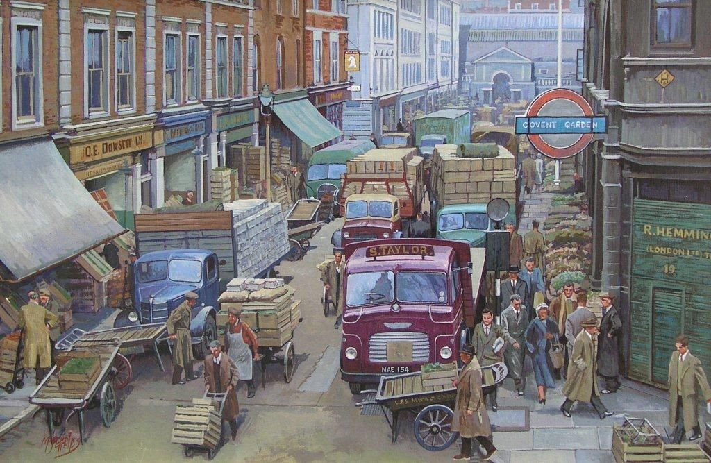 Covent Garden\' by Mike Jeffries | Cityscapes--Art | Pinterest ...