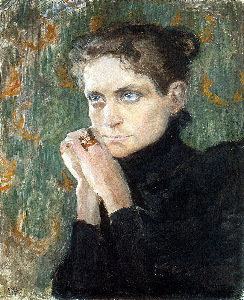 """gallen kallela akseli  prt of the actress ida aalberg 1893 (from <a href=""""http://www.oldpainters.org/picture.php?/25537/category/10362""""></a>)"""