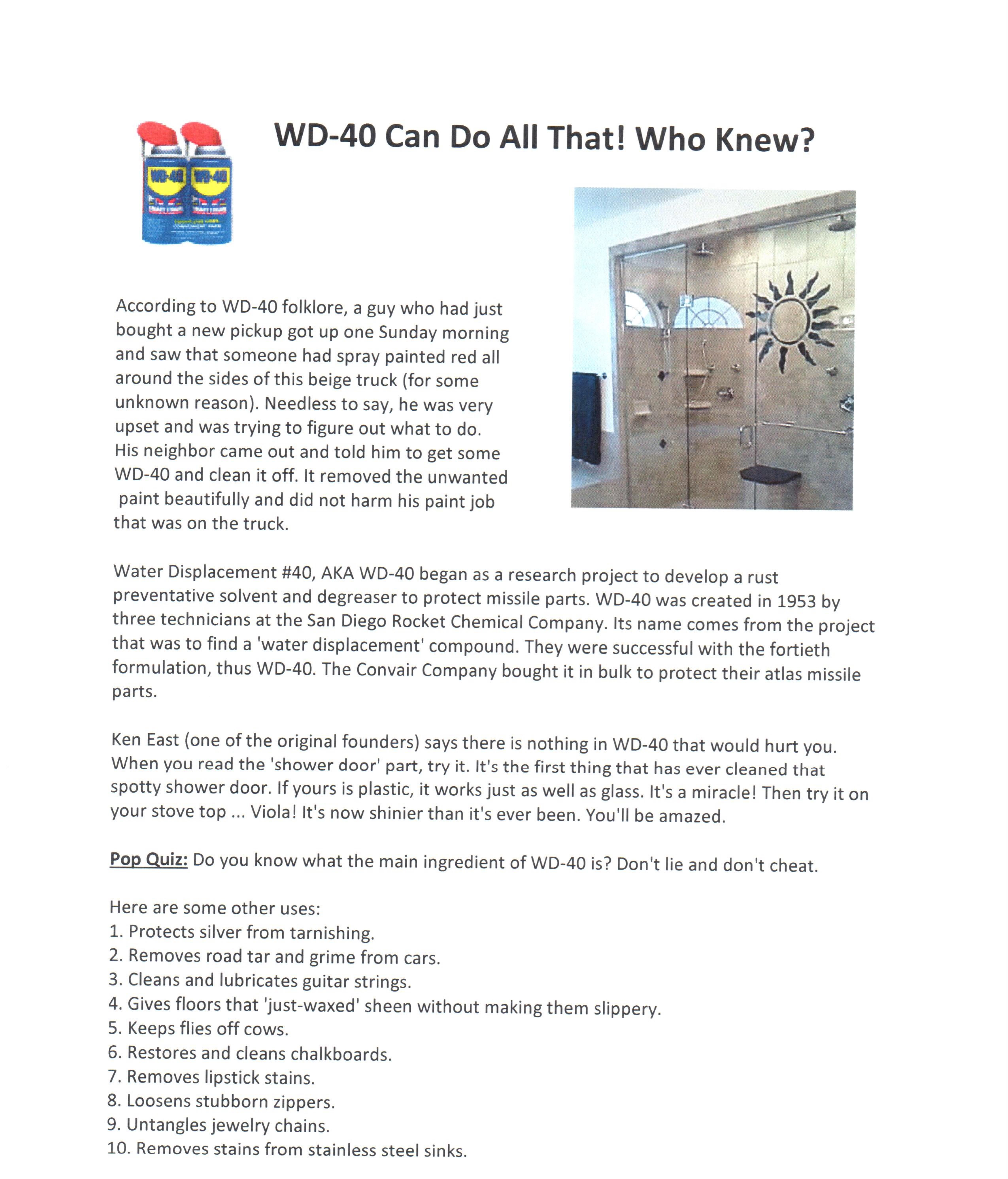 Wd40 40 Uses 10 Removes Stains From Stainless Steel Sinks 11