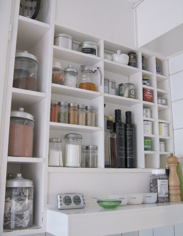 If you really like to be organized a wall unit would be perfect in the kitchen. You can have shelves and compartment of different shapes and sizes designed ... & Kitchen storage jars a great way of organizing ingredients and ...