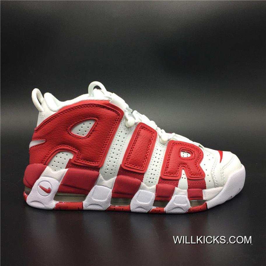 Nike Top Air More Uptempo Blanco Gym Rojo Top Nike Ofertas Gimnasio Nike Basketball 13a440