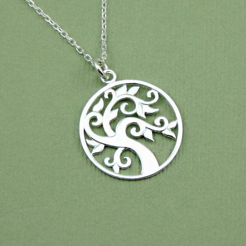 Celtic tree necklace sterling silver pendant necklaces celtic tree necklace sterling silver pendant necklaces handmade tree pendant on mozeypictures Gallery