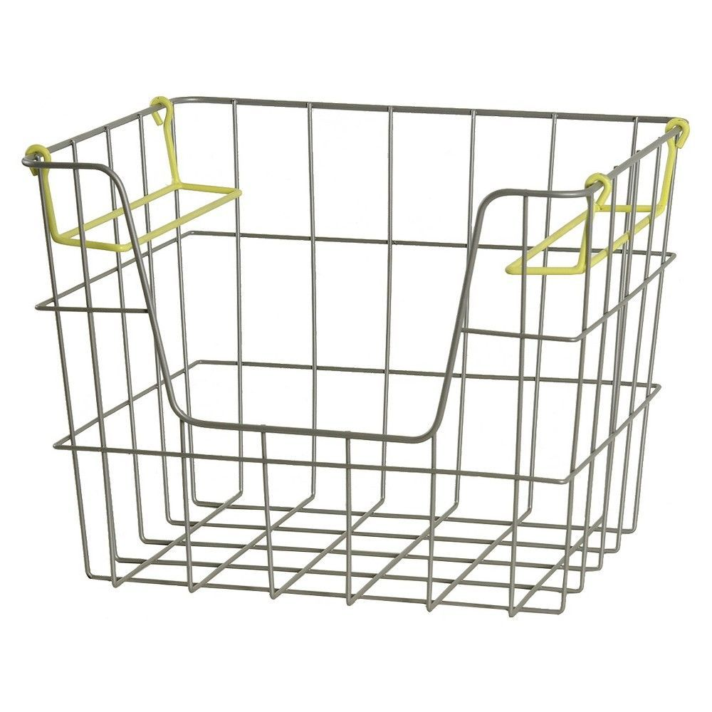 Wire Stackable Crate Small Lime - Pillowfort, Silent Lime | Products ...