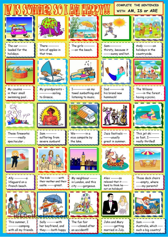 worksheet Esl Summer Worksheets it is summer so i am happy be are with esl worksheet free printable worksheets made by teachers