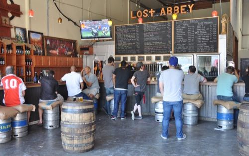 Tasting Room At Lost Abbey In San Marcos Faf Dreams