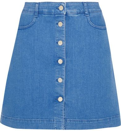 Stella McCartney - Stretch-denim Mini Skirt - Mid denim