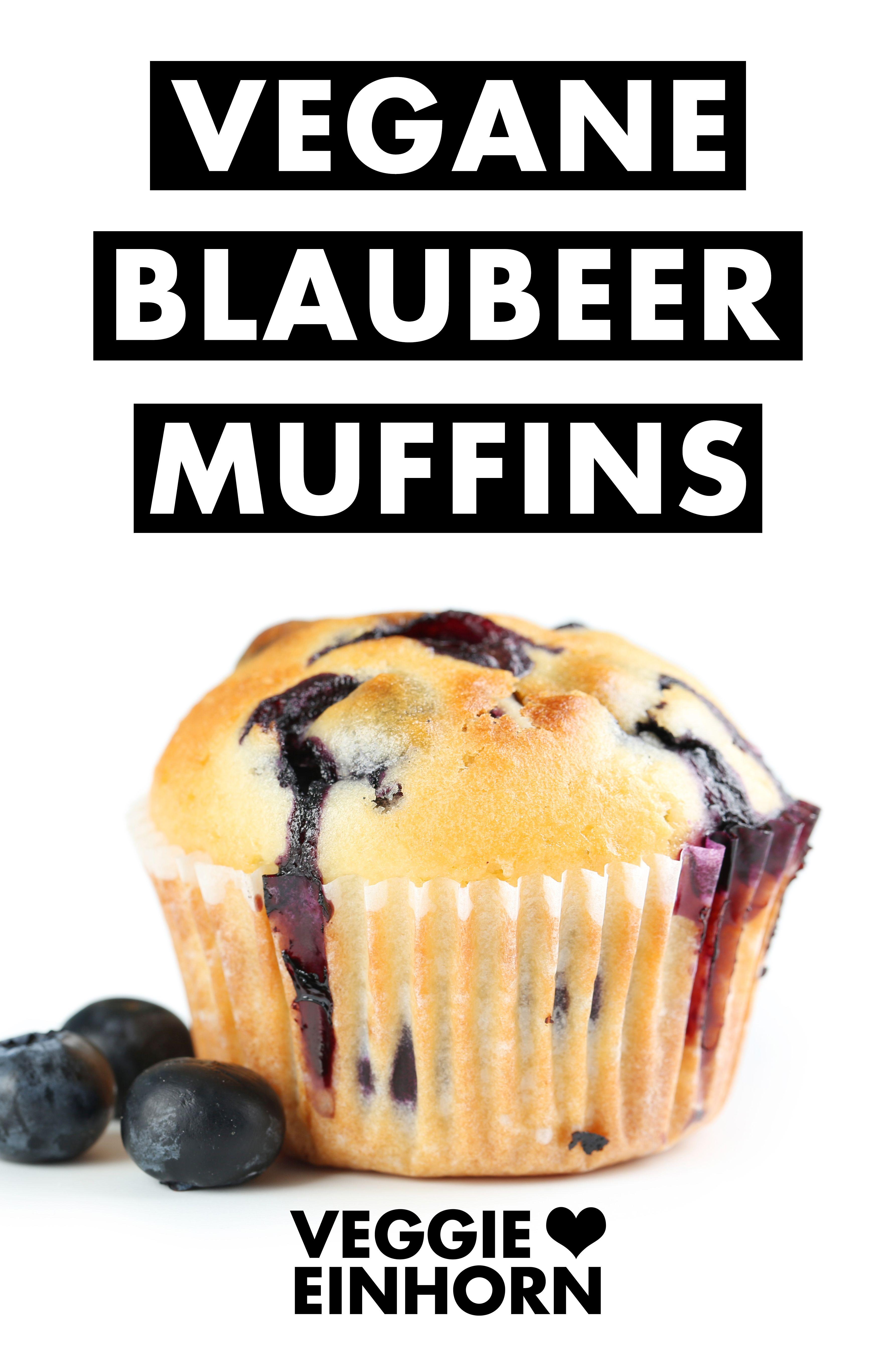 Die besten veganen Blaubeermuffins | Saftige Blaubeer Muffins ohne Ei | Einfach vegan backen