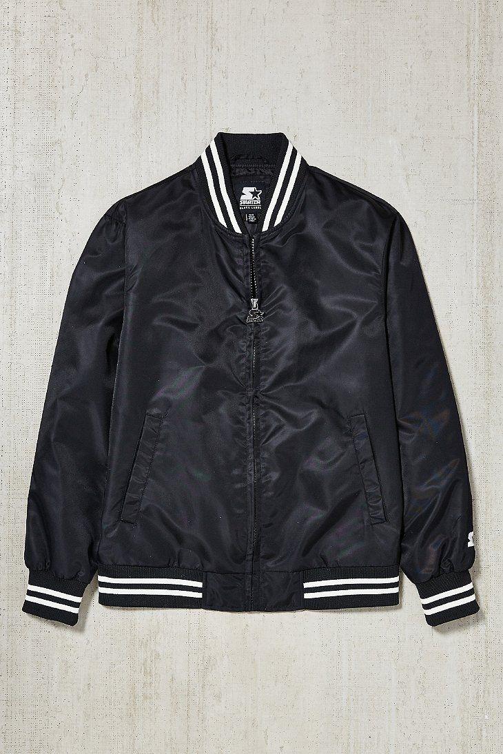 Starter Black Label Uo Athletic Bomber Jacket Bomber Jacket Outerwear Jackets Jackets [ 1095 x 730 Pixel ]