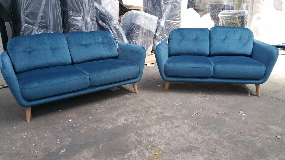 dadab36e8e4 John Lewis Arlo medium and small sofas - New - Isabella teal fabric ...