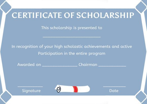 music scholarship certificate template scholarship certificate