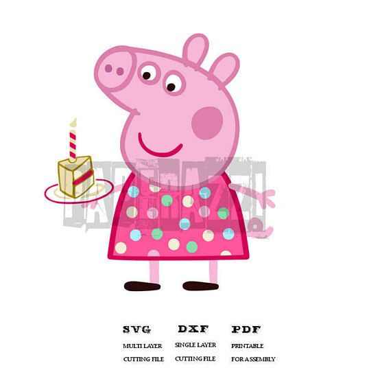 Peppa Pig SVG DXF Electronic cutting files for Cricut Design