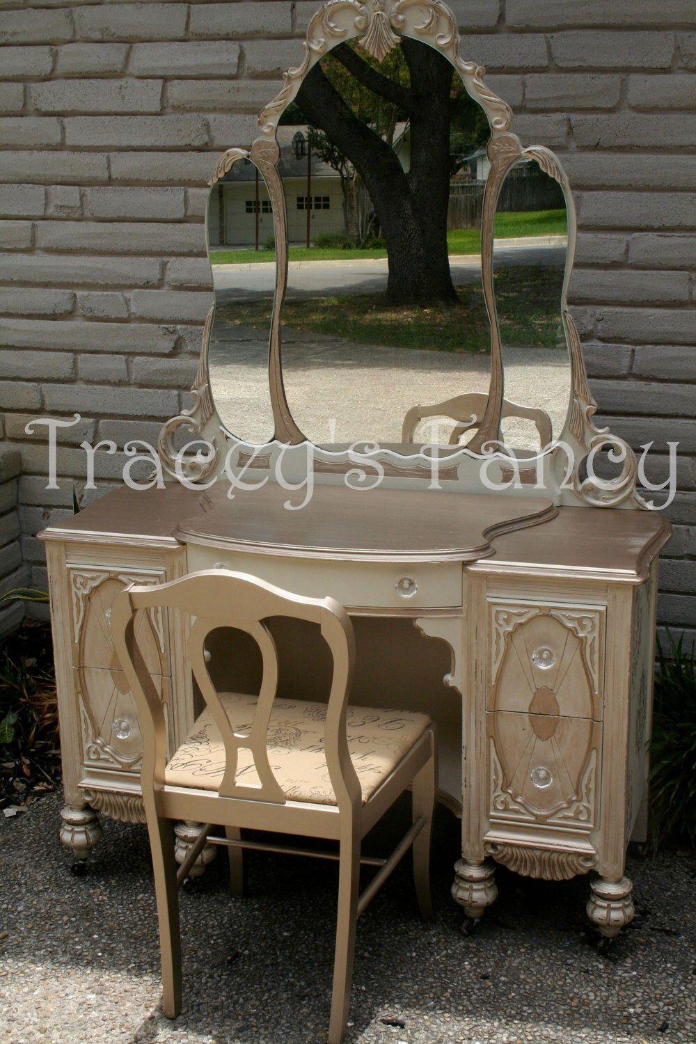Class Act - Vintage Vanity MADE TO ORDER by TraceysFancy on Etsy https://www.etsy.com/listing/104497512/class-act-vintage-vanity-made-to-order