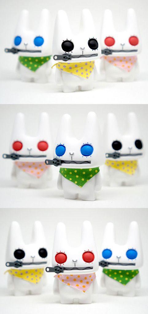 "My Plastic Heart x Eloise Kim - Zipper Rabbit ""The Forest"" resin art multiple announced!!!"