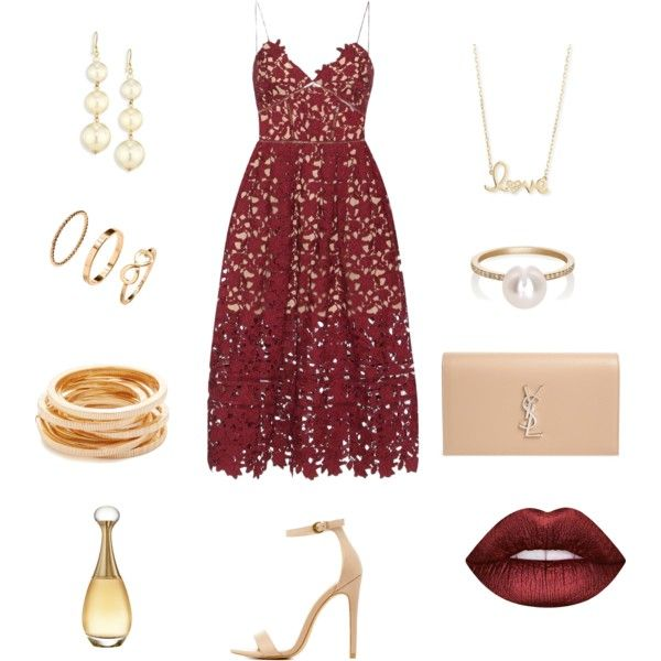 valentines date by stylechronicles on Polyvore featuring self-portrait, Charlotte Russe, Yves Saint Laurent, Sophie Bille Brahe, Sydney Evan, Kenneth Jay Lane, H&M, Lime Crime and Christian Dior