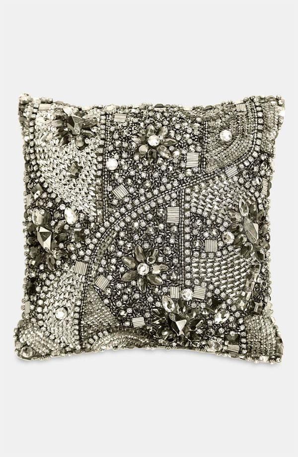Donna Karan Modern Classics Layered Jewels Decorative Pillow    DonnaKaranHome.com Home Fashion 5a3d72787c0d