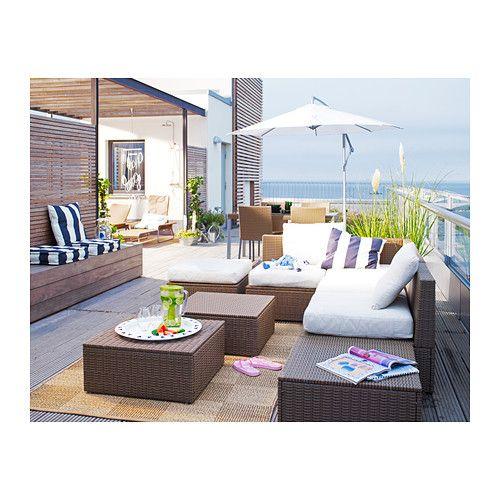 Arholma mesa banco ikea casa pinterest terrazas for Cojines jardin ikea