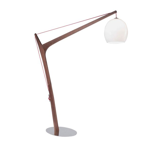 Imposing Wooden Floor Lamp From Roche Bobois