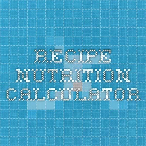 Recipe nutrition calculator diabetes recipes food ideas recipe nutrition calculator forumfinder Image collections