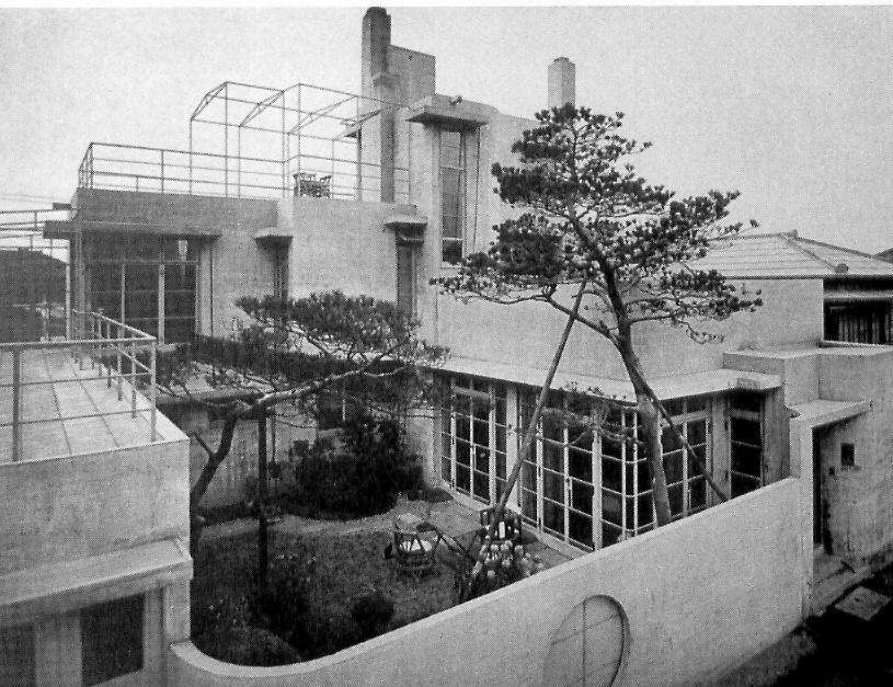 Raymond-reinanzaka-Residencia 1924  Primera casa de Hormigón Armado en Tokio.