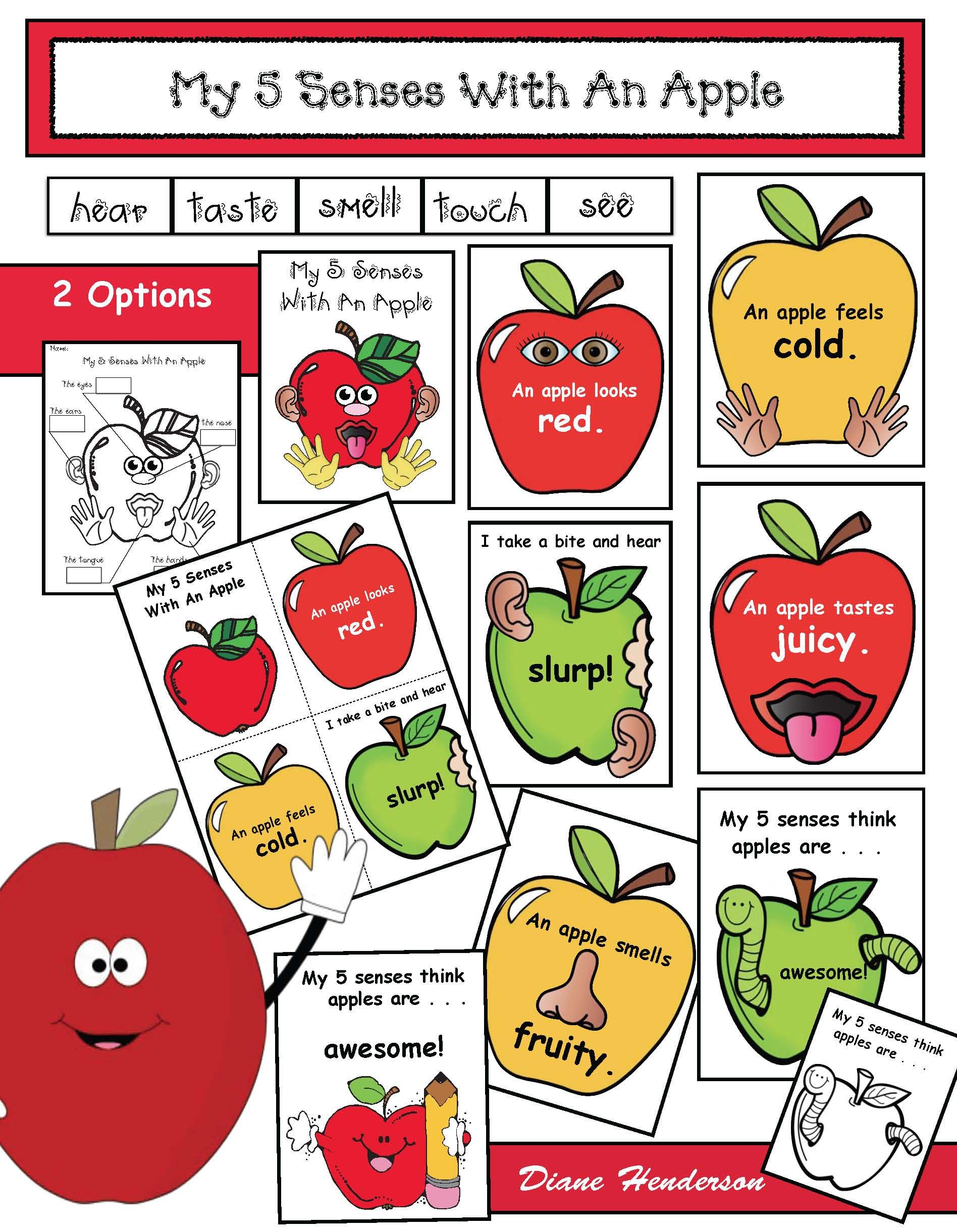 Studying The 5 Senses With Apples With Images