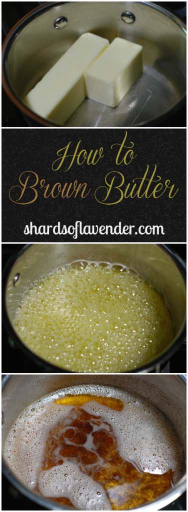 How to Make Brown Butter | Easy step-by-step tutorial for browning butter| http://www.shardsoflavender.com/ @shardslavender