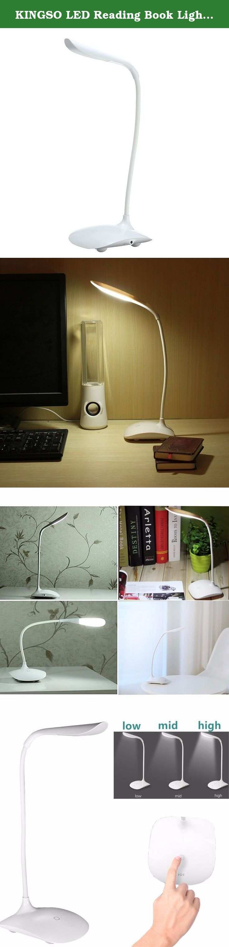 kingso led reading book light rechargeable usb touch sensor