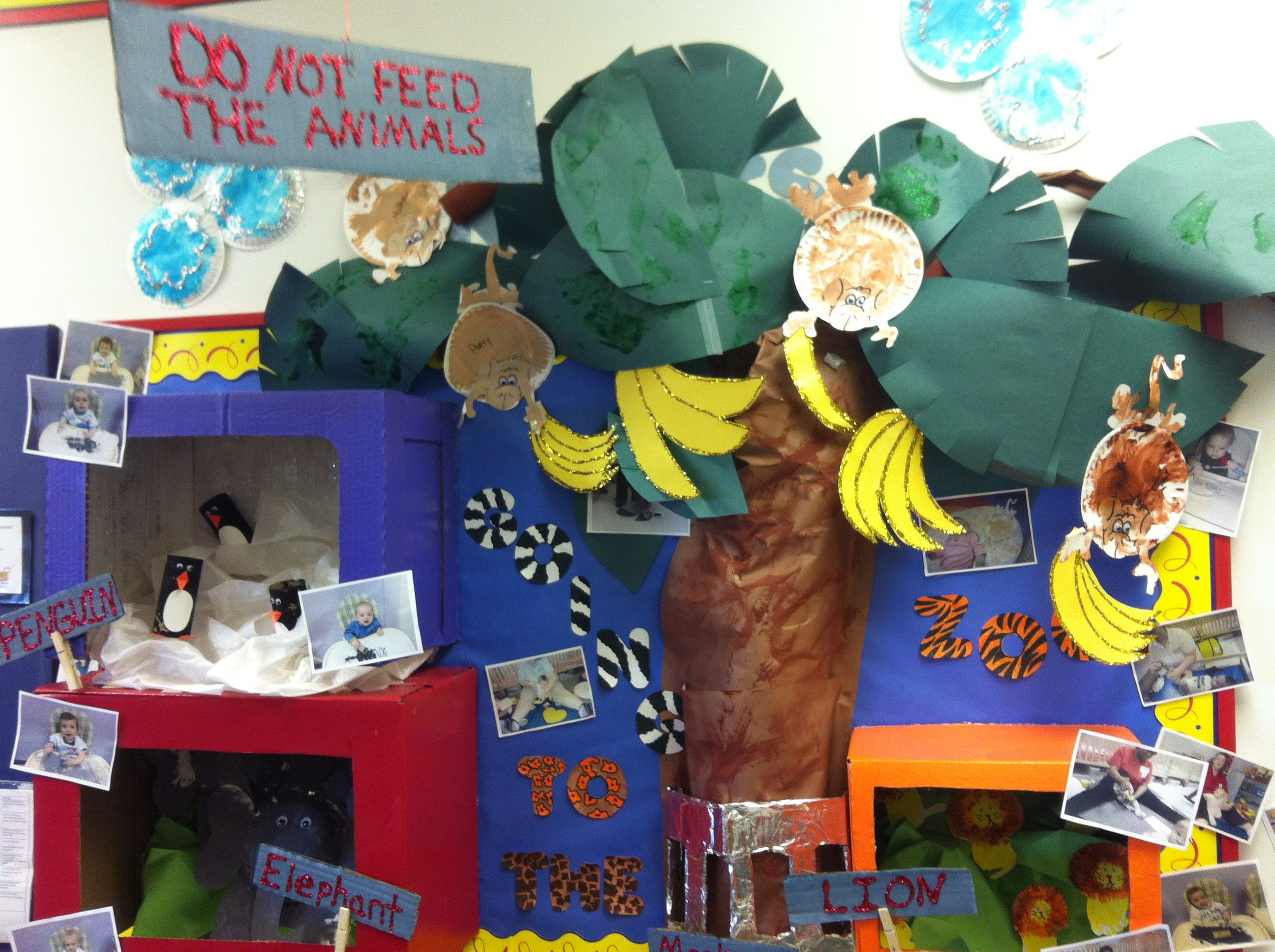 Classroom Zoo Ideas : The infants zoo animal bulletin board animals