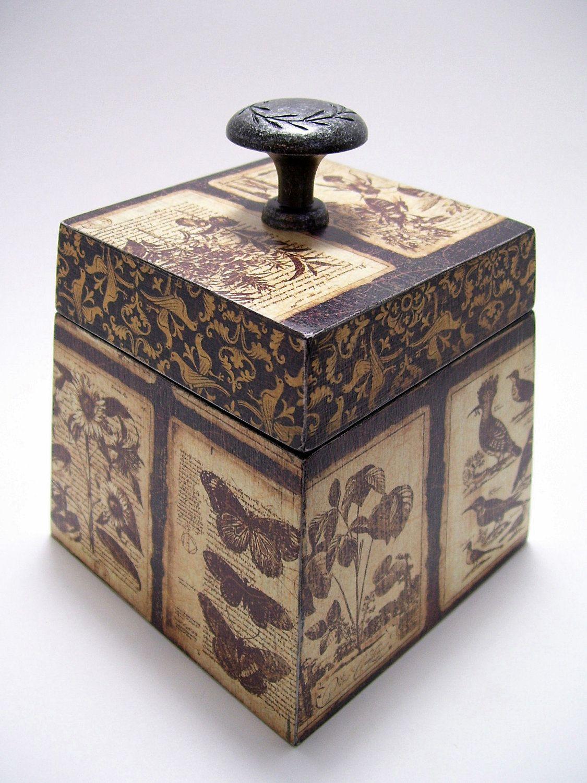 Botanicals Nature Decoupaged Box.
