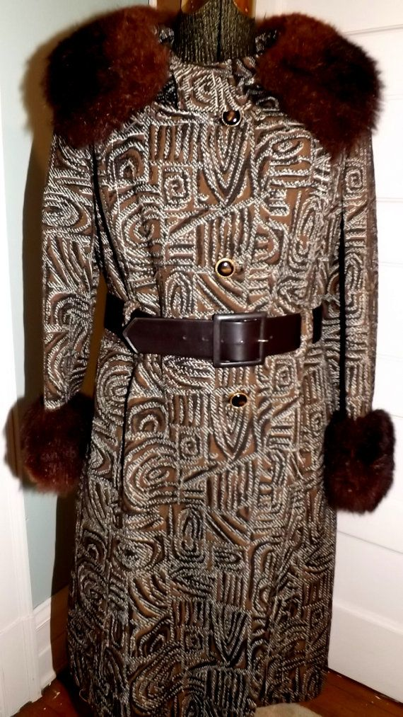 Vintage 1960's Tapestry Brocade Mink Fur Coat by SweetNancyVintage, $95.00